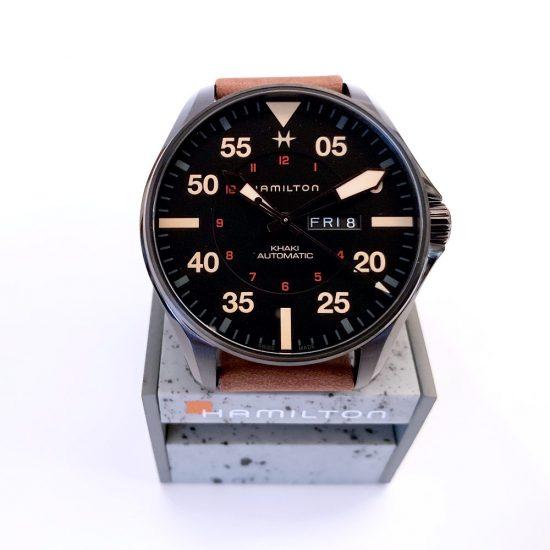 Hamilton Kaki Aviation Pilot Day Date Automatik, Durchmesser 46 mm, Stahl, Safirglas